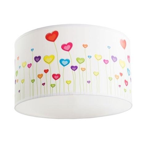 Mennyezeti lámpa HEARTS 1xE27/60W/230V