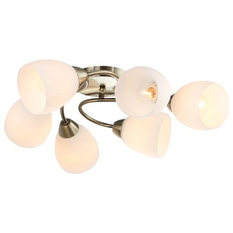 Mennyezeti lámpa OLGA 6xE14/40W/230V