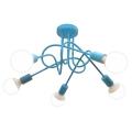 Mennyezeti lámpa  OXFORD 5xE27/60W/230V kék