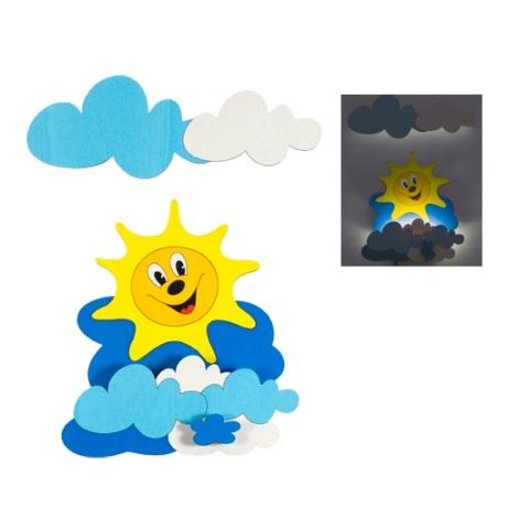 NAPOCSKA gyerek LED-es fali lámpa 1xLED/1W