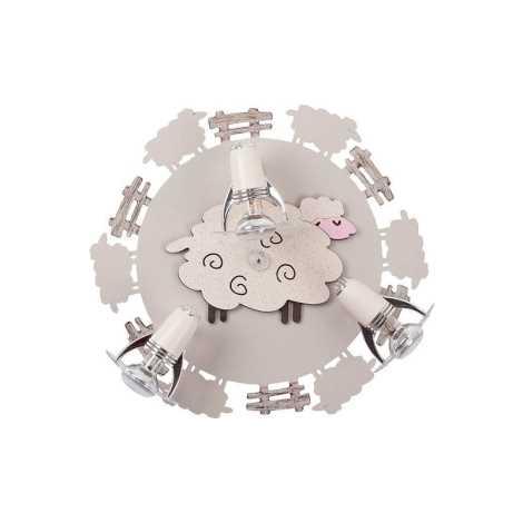 Nowodvorski NW4076 - SHEEP III PL gyerek spotlámpa - 3xE14/40W