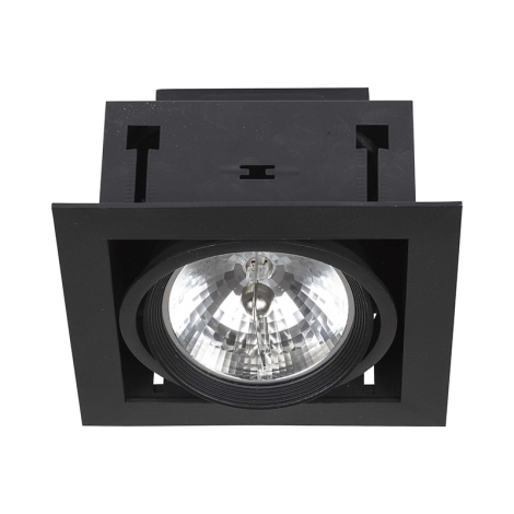 Nowodvorski NW6303 - Beépíthető lámpa DOWNLIGHT BLACK 1xAR111/50W/12V