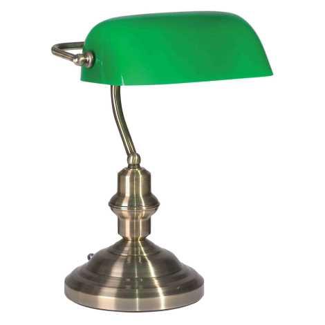 OFFICE BANK asztali lámpa, zelená 1xE27/60W