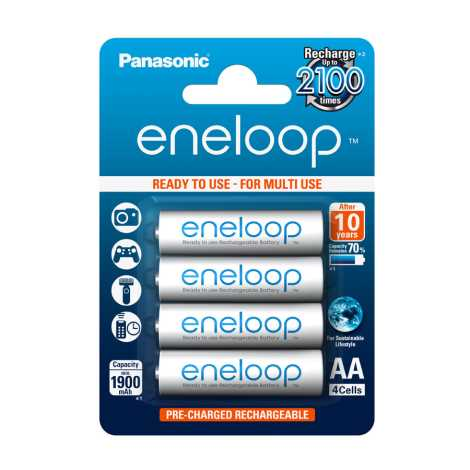 Panasonic Eneloop BK-3MCCE - 4db alkáli elem AA Eneloop NiMH/1,2V/1900mAh