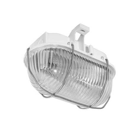 Panlux SOK-60/B - Kültéri mennyezeti lámpa OVAL KOV 1xE27/60W/230V bílá