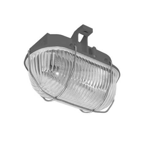 Panlux SOK-60/S - Kültéri mennyezeti lámpa OVAL KOV 1xE27/60W/230V šedá