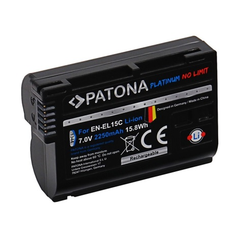 PATONA - Akkumulátor Aku Nikon EN-EL15C 2250mAh Li-Ion Platinum