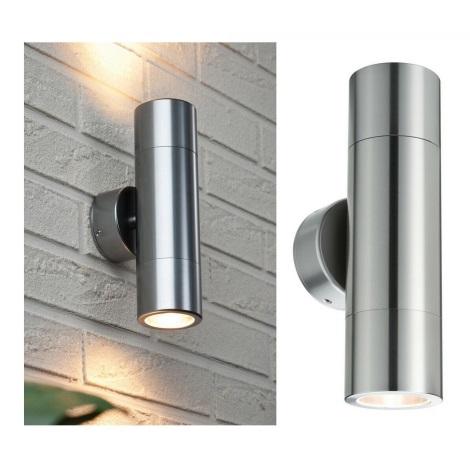 Paulmann  18009 - 2xLED-GU10/3,5W IP44 Kültéri fali lámpa FLAME 230V