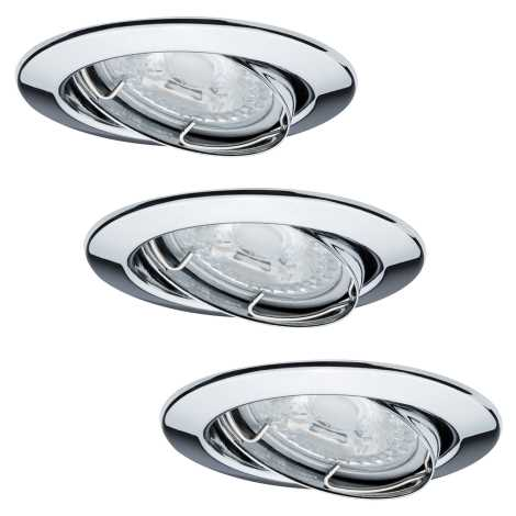 Paulmann 92101 - KÉSZLET 3x LED Beépíthető lámpa 3xGU10/6,5W/230V