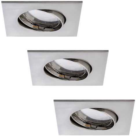 Paulmann 92773 -KÉSZLET 3x LED Fürdőszobai beépíthető lámpa COIN 3xLED/6,8W/230V