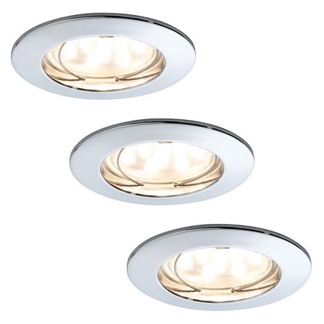 Paulmann 92813 - KÉSZLET 3xLED/7W Fürdőszobai dimmelhető lámpa 230V