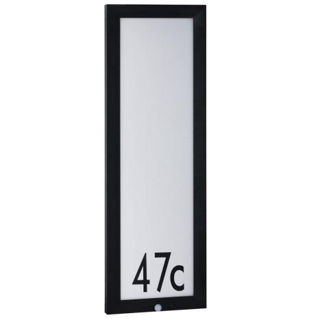 Paulmann 94257 - LED/19W IP44 Házszám érzékelővel 230V