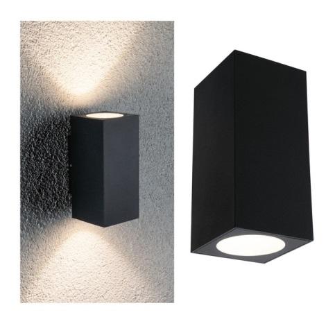 Paulmann 94328 - 2xLED/2,8W IP44 Kültéri fali lámpa FLAME 230V antracit