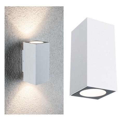 Paulmann 94330 - 2xLED/2,8W IP44 Kültéri fali lámpa FLAME 230V fehér