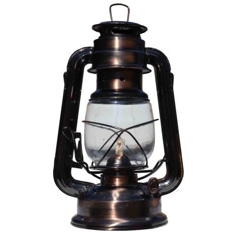 Petróleum lámpa 24 cm réz