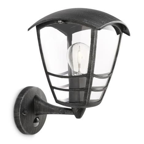Philips 15468/54/16 - Kültéri fali lámpa a mozgásérzékelős MYGARDEN STREAM 1xE27/60W/230V