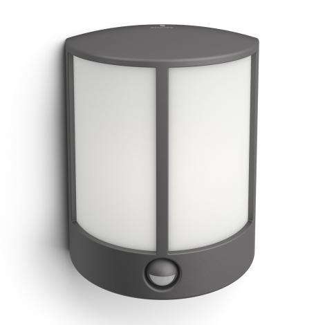 Philips 16465/93/16 - LED Kültéri fali lámpa a mozgásérzékelős MYGARDEN STOCK 1xLED/6W/230V