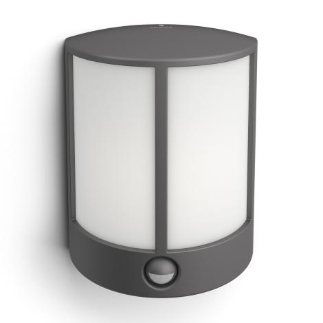Philips 16465/93/P3 - LED Kültéri fali lámpa a mozgásérzékelős MYGARDEN STOCK 1xLED/6W/230V