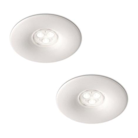 Philips 16861/31/16 - KÉSZLET 2x LED Fürdőszobai mennyezeti lámpa LEDINO LED/7,5W/230V
