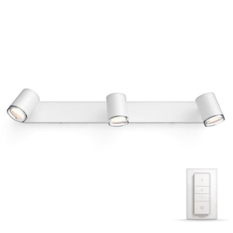 Philips 34361/31/P7 - LED Spotlámpa HUE ADORE 3xGU10/5,5W/230V