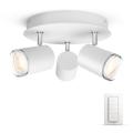 Philips 34362/31/P7- LED fürdőszobai spotlámpa HUE ADORE 3xGU10/5,5W/230V