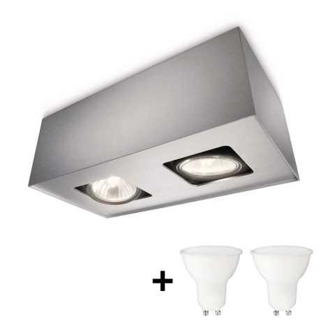 Philips 56232/48/PN - LED Spotlámpa TEMPO 2xGU10/6W/230V