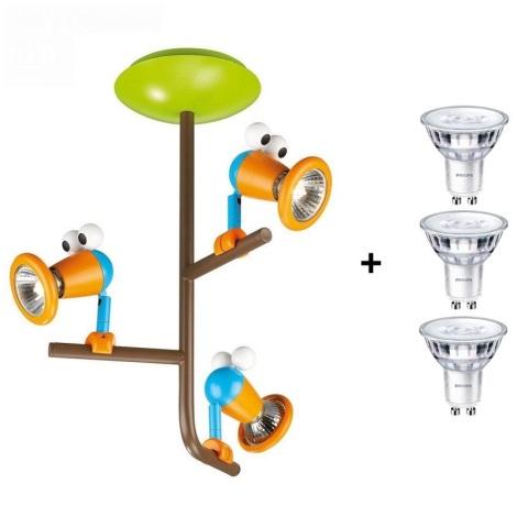 Philips 56313/55/16 - Gyermek spot lámpa  MYKIDSROOM BIRDEY 3xGU10/35W/220-240V
