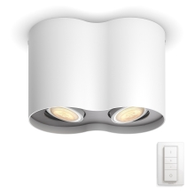 Philips 56332/31/P7 - LED Spotlámpa PILLAR HUE 2xGU10/5,5W/230V