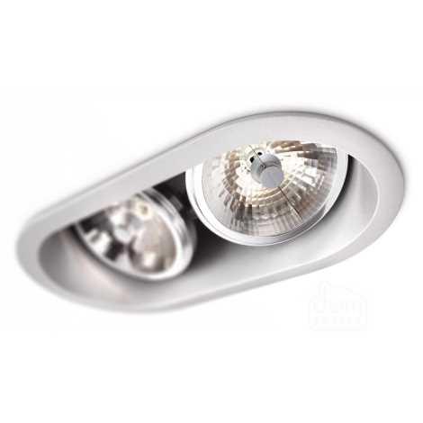 Philips 57976/48/16 - Beépíthető lámpa MYLIVING INDUS 2xG53/30W/230V