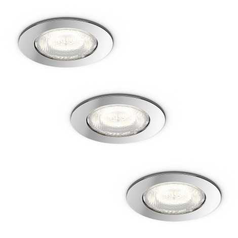 Philips 59007/11/P0 - 3x LED Beépíthető lámpa MYBATHROOM DREAMINESS 3xLED/4,5W/230V