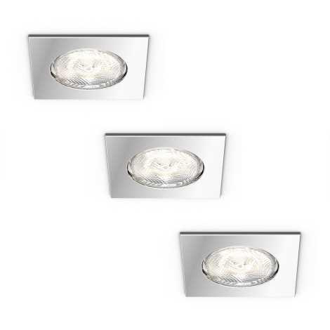 Philips 59007/11/P0 - SADA 3x LED Beépíthető lámpa MYBATHROOM DREAMINESS 3xLED/4,5W/230V