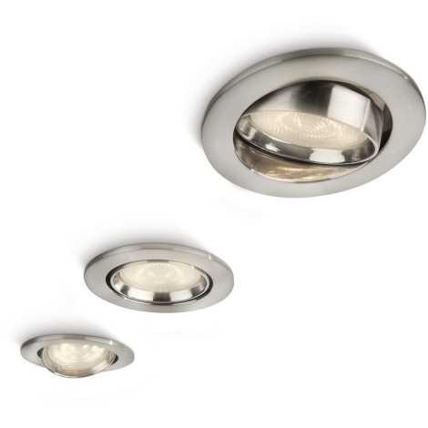 Philips 59030/17/16 - KÉSZLET 3x LED beépíthető lámpa MYLIVING ELLIPSE 1xLED/3W/230V
