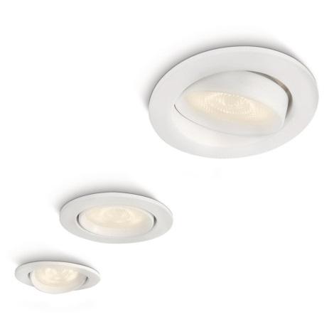 Philips 59030/31/16 - KÉSZLET 3x LED beépíthető lámpa MYLIVING ELLIPSE 3xLED/3W/230V