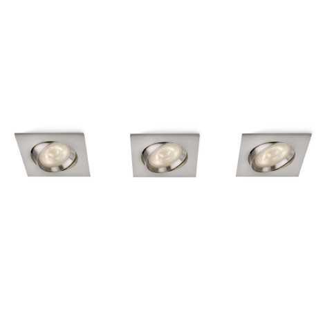 Philips 59080/17/16 - KÉSZLET 3x LED beépíthető lámpa MYLIVING GALILEO 3xLED/3W/230V