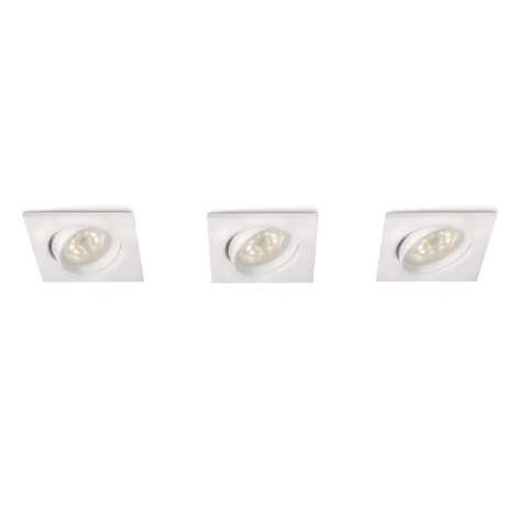Philips 59080/31/16 - KÉSZLET 3x LED beépíthető lámpa MYLIVING GALILEO 3xLED/3W/230V