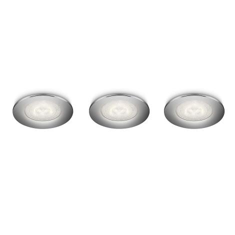 Philips 59100/11/16 - Készlet 3x LED beépíthető SCEPTRUM 3xLED/3W/230V