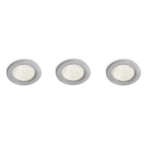 Philips 59100/87/16 - Készlet  3 LED-es spot süllyesztett lámpat MYLIVING SCEPTRUM 3xLED/4W/230V szürke