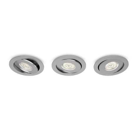 Philips 59183/48/16 - KÉSZLET 3x LED beépíthető lámpa ASTEROPE 1xLED/4,5W/230V