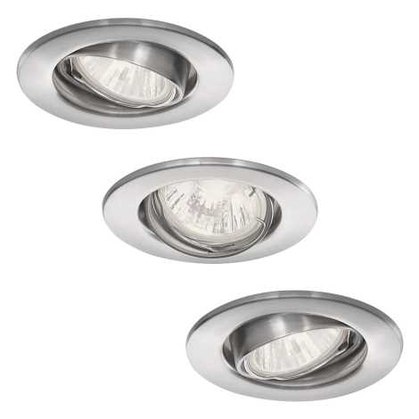 Philips 59463/17/16 - KÉSZLET 3x Fürdőszobai mennyezeti lámpa VIRGO 1xGU10/35W/230V