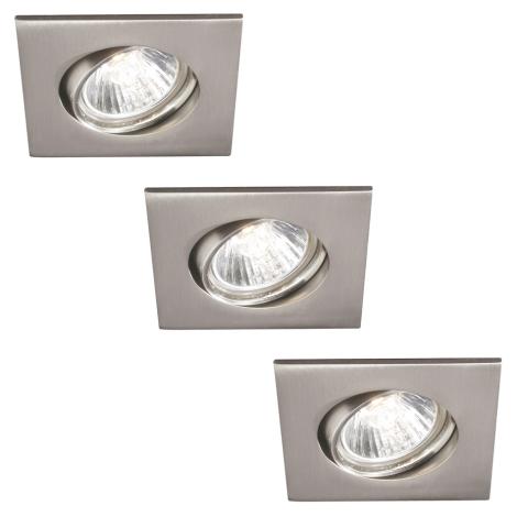 Philips 59473/17/16 - KÉSZLET 3x Fürdőszobai beépíthető lámpa CAPELLA 3xGU10/30W
