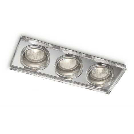 Philips 59563/11/16 - Fürdőszobai mennyezeti lámpa MYLIVING DERMOS 3xGU10/35W/230V