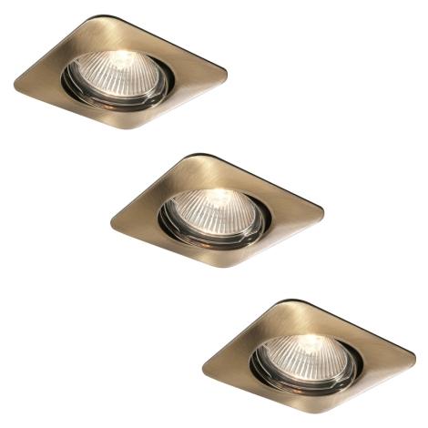 Philips 59663/06/16 - KÉSZLET 3x Fürdőszobai mennyezeti lámpa MYLIVING MERGA 1xGU10/35W/230V