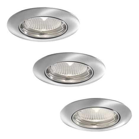 Philips 59773/17/16 - KÉSZLET 3x Fürdőszobai mennyezeti lámpa SMARTSPOT ALYA 1xGU10/35W/230V rozsdamen