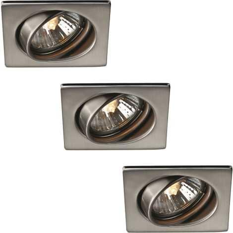 Philips 59783/17/10 - KÉSZLET 3x Fürdőszobai mennyezeti lámpa TONGA 1xGU10/50W/230V nerez