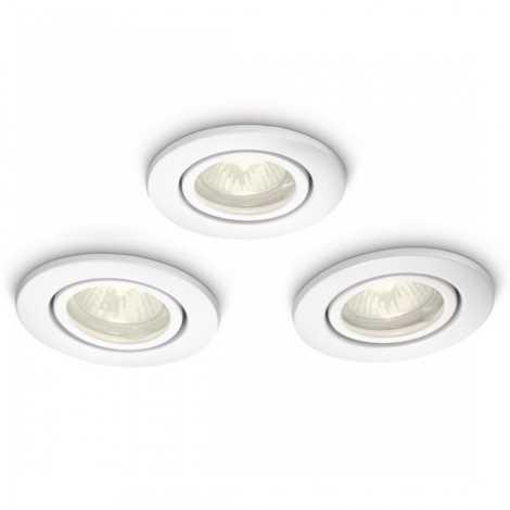 Philips 59902/31/16 - KÉSZLET 3x Fürdőszobai mennyezeti lámpa MYBATHROOM ROOTS 1xGU10/35W/230V