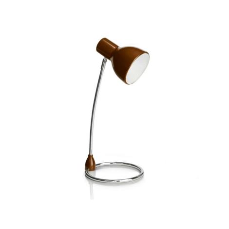 Philips 67204/43/16 - SONG asztali lámpa 1xE27/15W barna