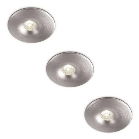 Philips 69077/48/16 - KÉSZLET 3x LED Fürdőszobai mennyezeti lámpa LEDINO 1xLED/2,5W/230V