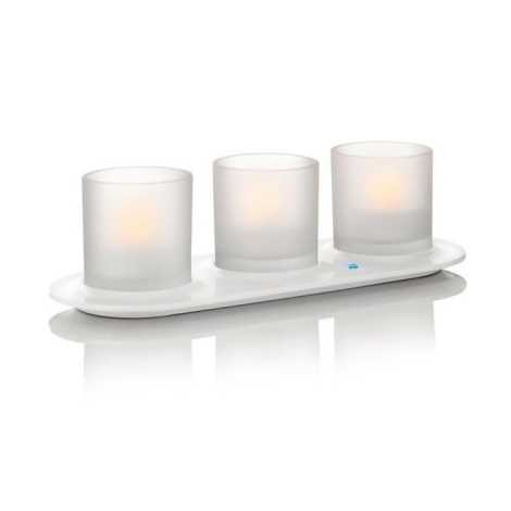 Philips 69187/60/PH - LED-es asztali lámpa 3 db-os szett TEALIGHTS NATURELLE 3xLED/0,5W