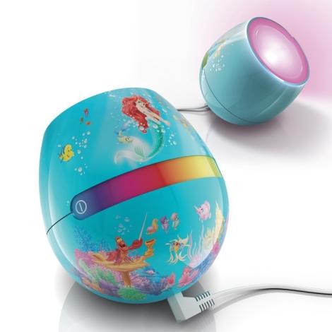 Philips 71704/25/26 - LIVINGCOLORS MICRO DISNEY ARIEL LED-es gyerek lámpa  LED-SMD/4,7W
