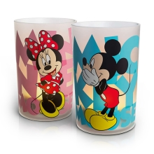 Philips 71712/55/16 - LED-es asztali lámpa CANDLES MICKEY & MINNIE MOUSE 2 db-os szett 2xLED/1,5W